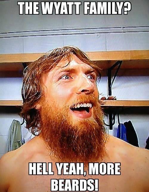 Honorary Beard Award...Best Wrestling Beard :  Daniel Bryan.