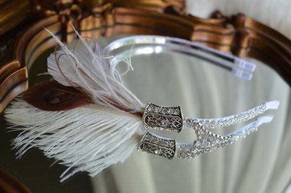One of a Kind Vintage Gatsby Inspired Headpiece by JArendsDesigns