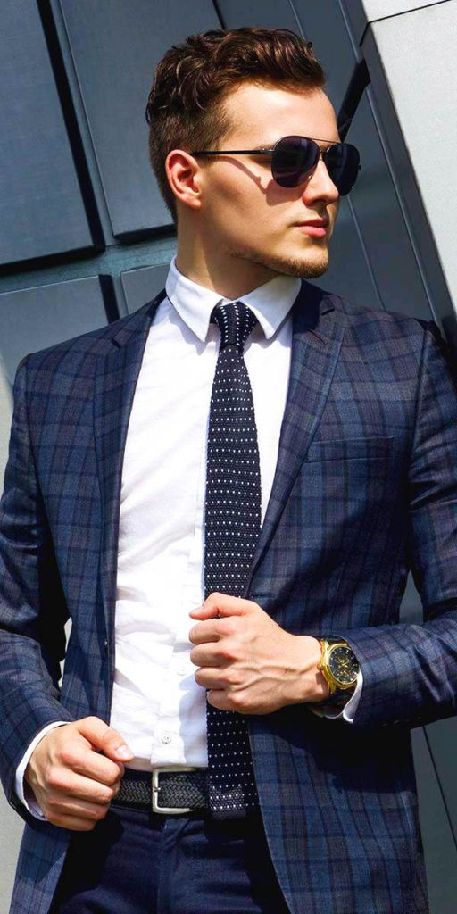 Men's navy blue plaid blazer, Mens custom suits, customized suits, affordable suits