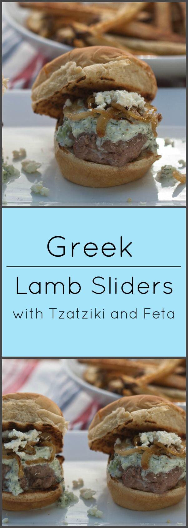 Greek Lamb sliders with tzatziki