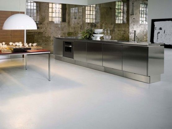Stainless Steel Kitchen Cabinets - E5 from Elam