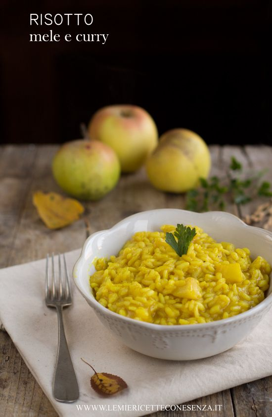 Risotto con le mele al curry, ricette con le mele, ricette con il curry, riso al curry ricetta, tipologie di curry: curry giallo