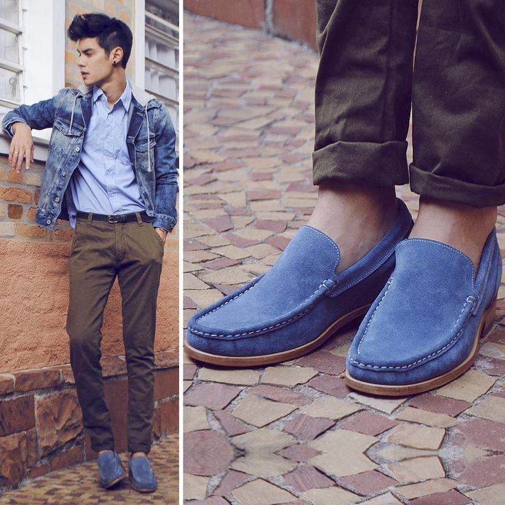 Il fashion blogger #viniuehara indossa i mocassini con rialzo #guidomaggi. 6.5 centimetri in più con il rialzo interno Guidomaggi.