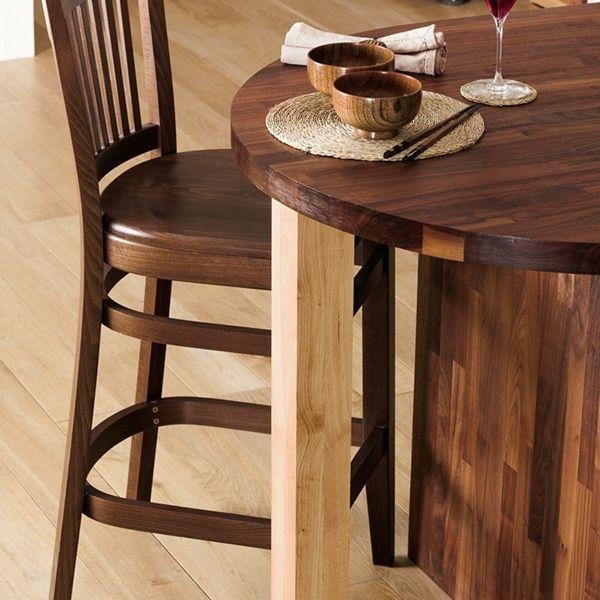 Wood Breakfast Bar Leg (Oak - Sanded)