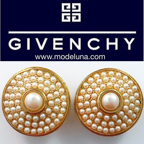 Givenchy Earrings  Givenchy Bjioux Jumbo Faux Pearl Pave Set