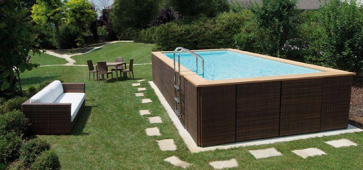 Pi di 25 fantastiche idee su piscine fuori terra su for Piscina fuori terra interrata