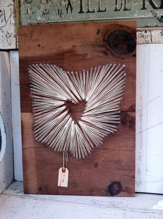 Handmade custom string art - perhaps a perfect wedding gift for the bride & groom