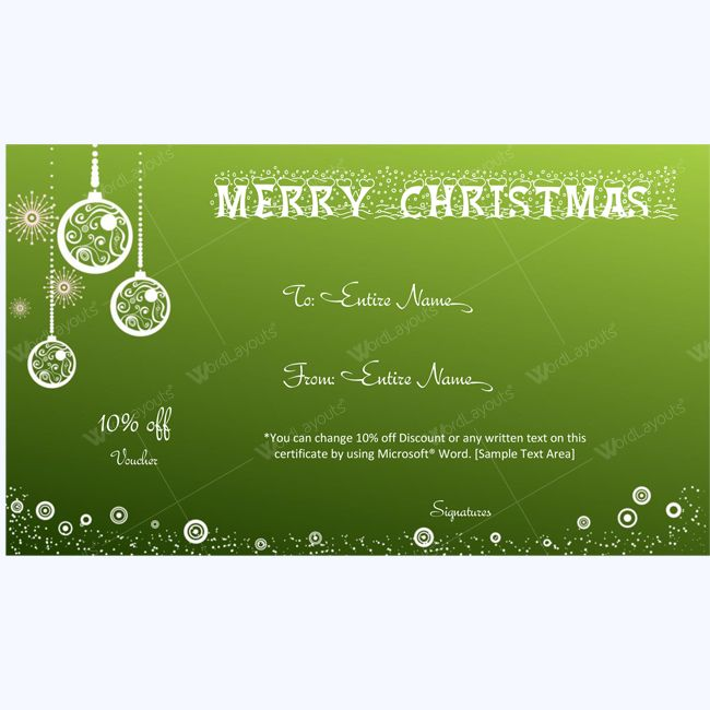 61 best Merry Christmas Gift Certificate Templates images on - free christmas voucher template