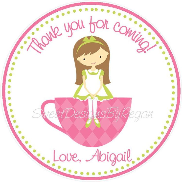 Tea Party Favor Tag by SweetDesignsbyRegan on Etsy, $6.00