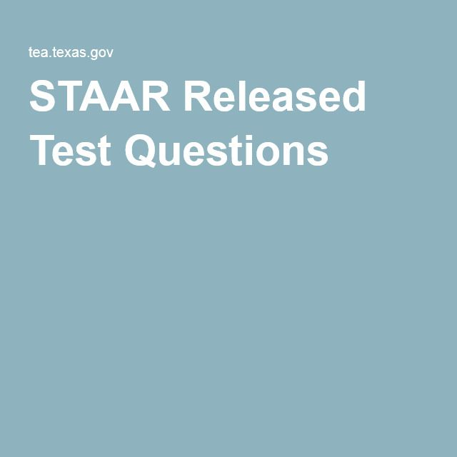 5th grade staar modified released test