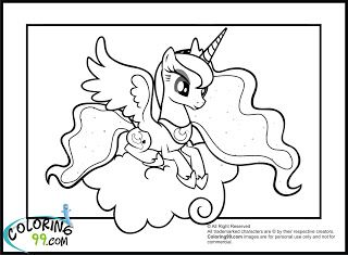 My Little Pony Princess Luna Coloring Pages Books Worth