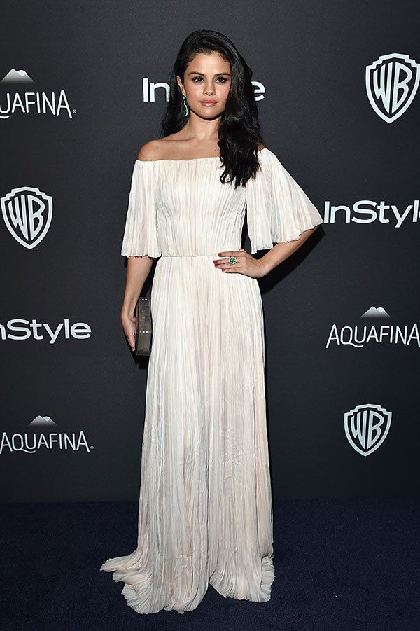 Selena Gomez looked like a Grecian goddess at the InStyle Golden Globe Awards after party!