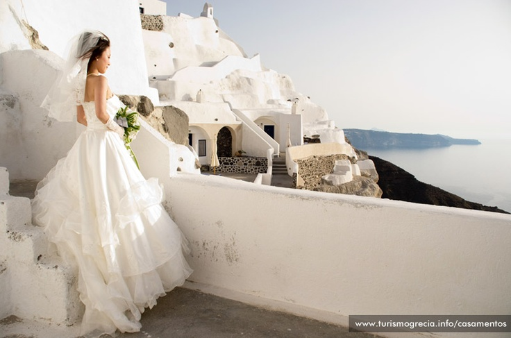 Beatufil #Bride #Casamento #Santorini