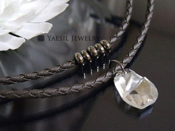 Divine Rock Crystal Necklace Musician Necklace by YaesilJewelry
