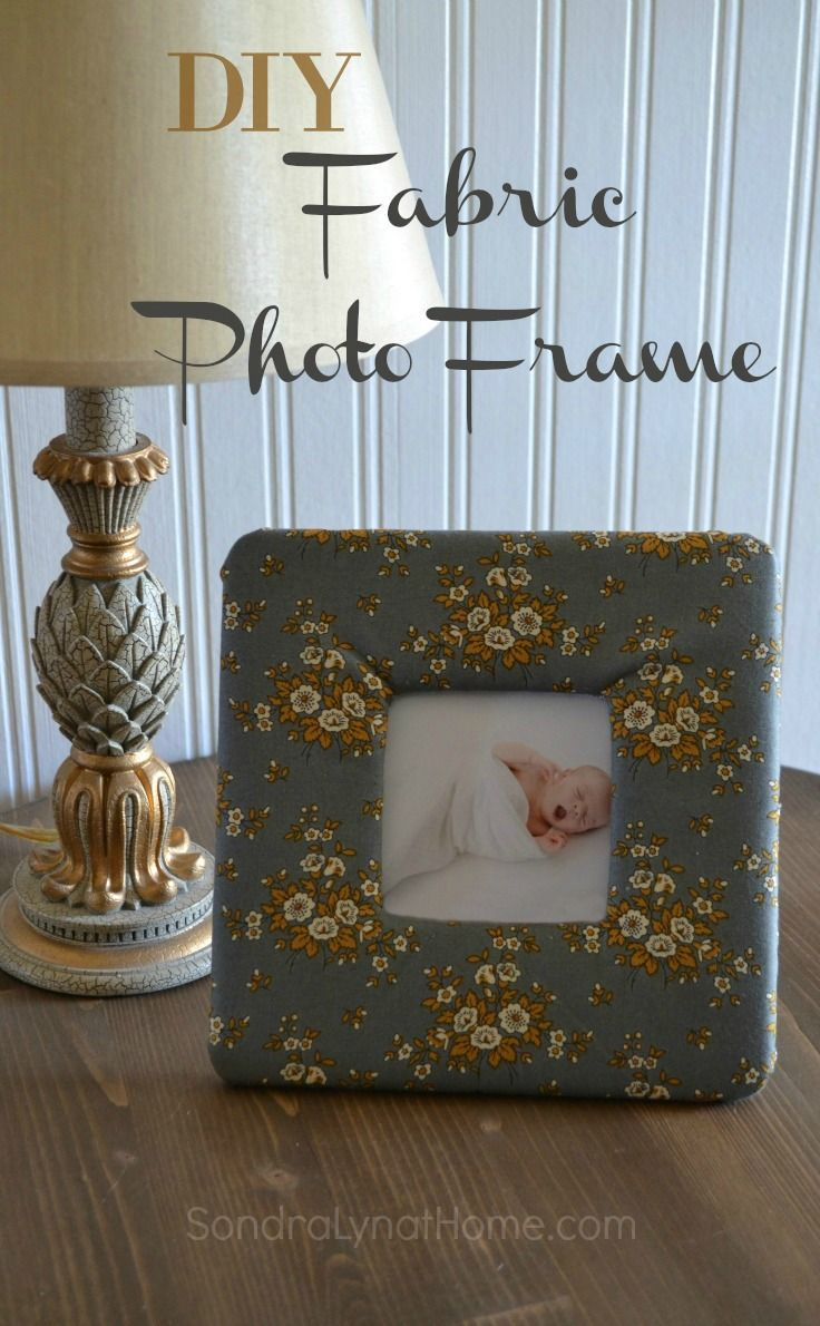 Diy fabric photo frame home homemade and gifts for Diy fabric picture frame