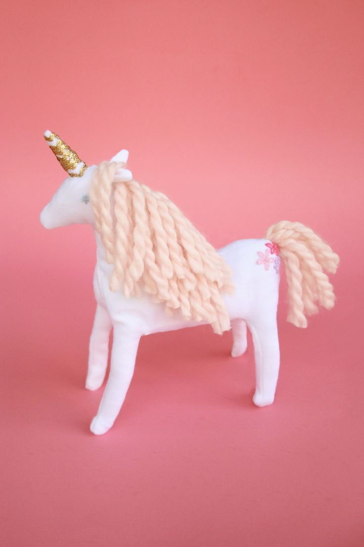 Create a little magic this week with this adorable plush unicorn stuffed toy DIY.  @abeautifulmess_ breaks down the handmade tutorial, and includes a free pattern and the products you'll need.