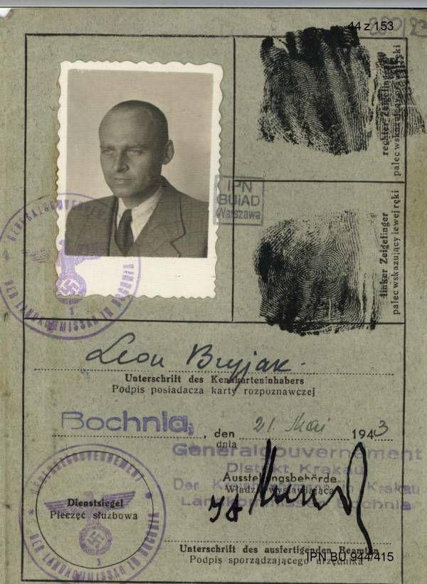 Pilecki niemiecka karta rozpoznawcza