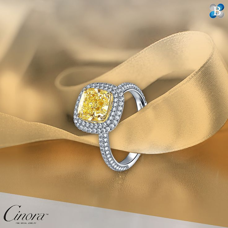 Yes. A thousand times Yes! With a stunning yellow cushion center diamond and a double halo, you'll get the answer you want!  Check link in bio to see our collection of yellow diamond engagement rings. Stock No: ASAJ2361 #engagementring #engagementringgoals #engagementrings #engagementringideas #yellowdiamondring #yellowdiamondengagementring