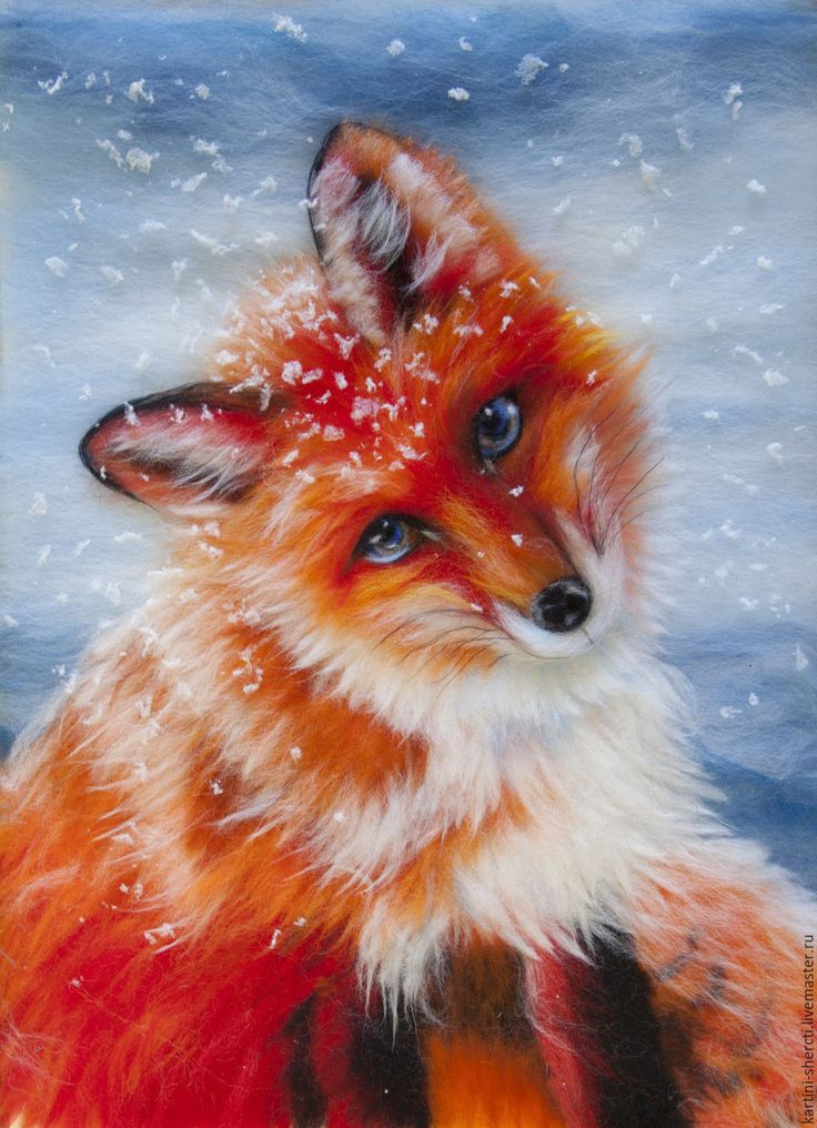 Handmade wool painting / Картина шерстью. Посмотри в мои глаза. Лиса. - рыжий, лиса, Рыжая, картина