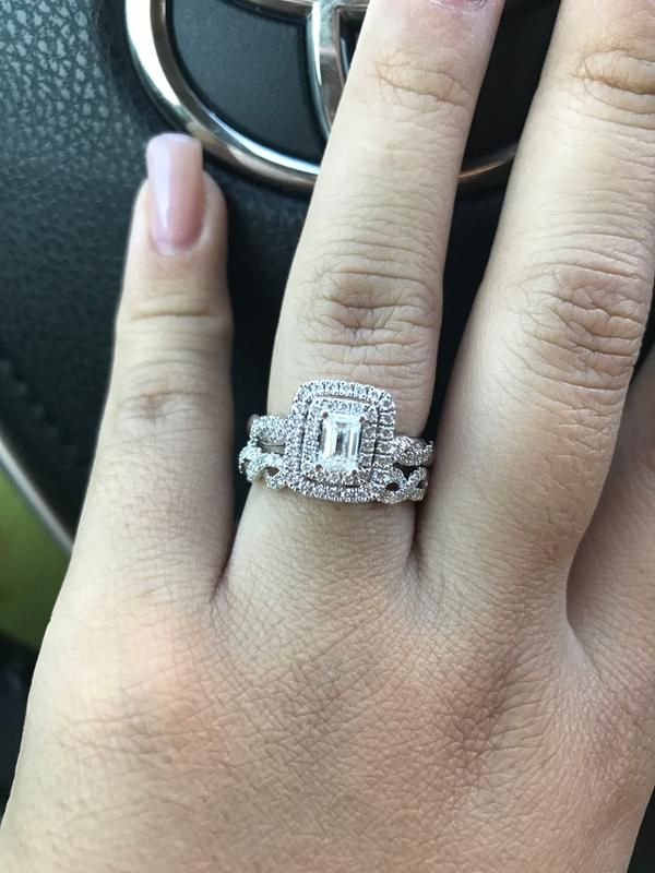 8b66aa181f036c T.w. Emerald-Cut Diamond Double Frame Engagement Ring in 14K White Gold in  2019 | THE Day | Engagement rings, Rings, Emerald cu…