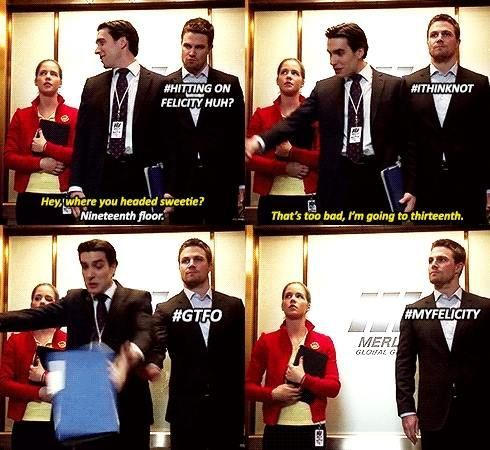 Olicity from Arrow. Not sure why this makes me laugh as much as it does... #MYFELICITY