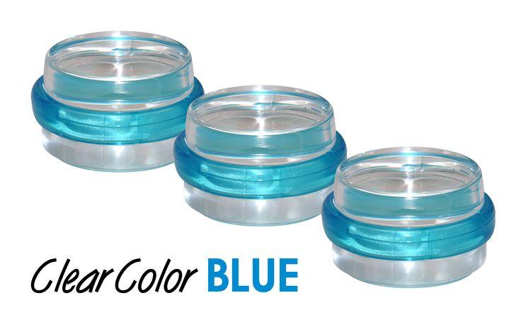 #Tuerstopper Clear COLOR Blue - Einfach per Kleben befestigen und mit einem Handgriff wieder ablösen. Er ist zwar #durchsichtig, aber durch seinen blauen Außenring doch ein echter #Hingucker. http://www.wagner-webshop.com/de/turstopper-4823.html