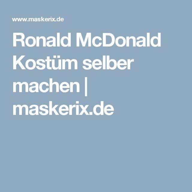 Ronald McDonald Kostüm selber machen   maskerix.de