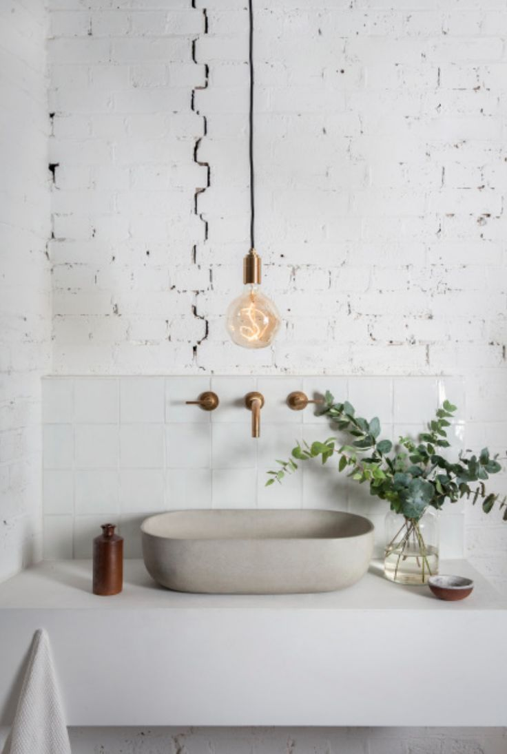 Finde Und Speichere Ideen Uber Weisse Ziegelmauern Auf Pinterest Tolle Badezimmer Moderne Inneneinrichtung Badezimmer Einrichtung