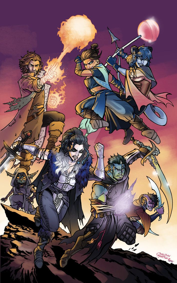 Mighty Nein Colors by nickcaponi   Critical role ...