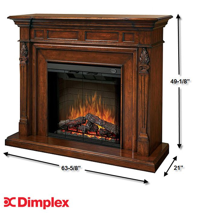 63 6 dimplex torchiere burnished walnut purifire electric for Be modern detroit electric fire