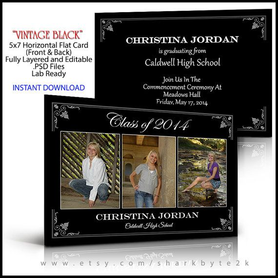 Best Senior Graduation Card Invitation Templates For Photoshop