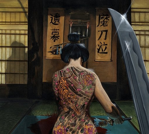 Pin by weeping willow on swords pinterest for Female yakuza tattoo