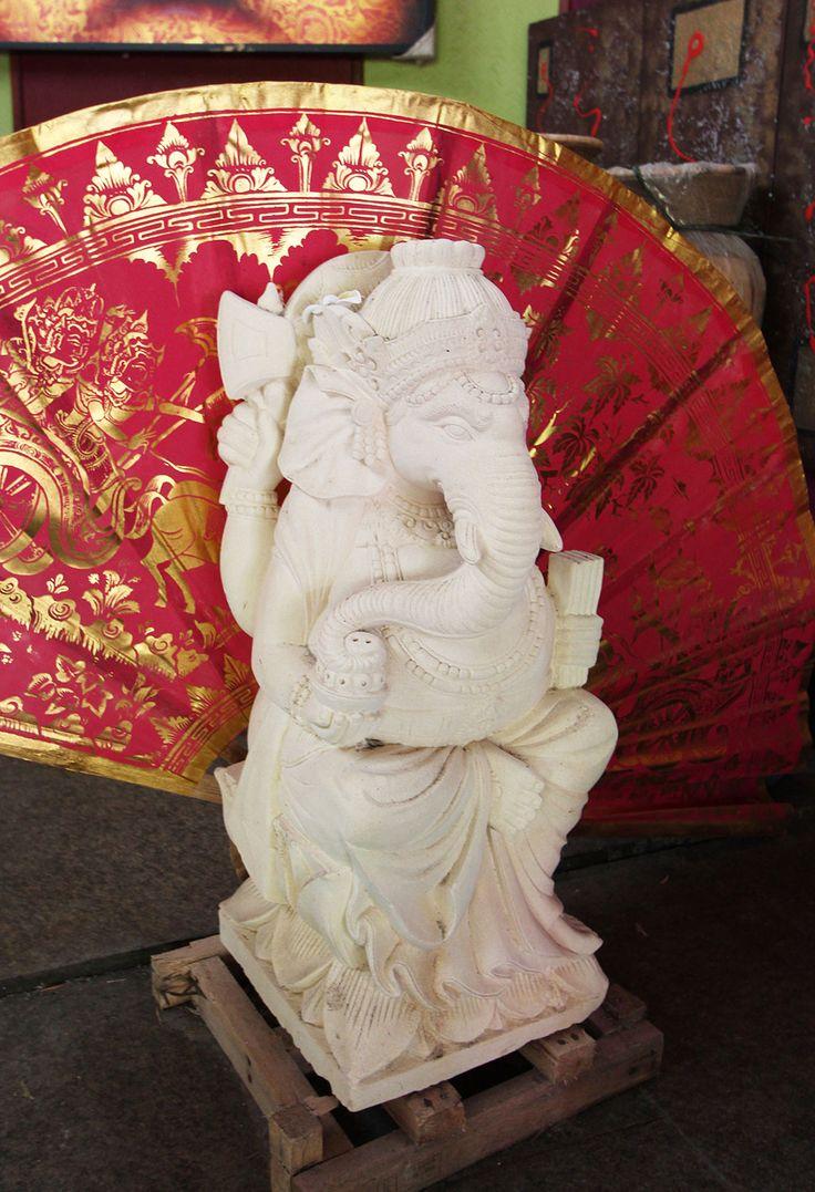 Hand crafted stone ganesha http://www.baligarden.com