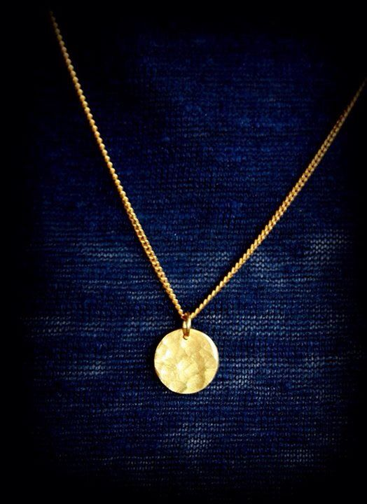 Forged pendant / gold plated brass