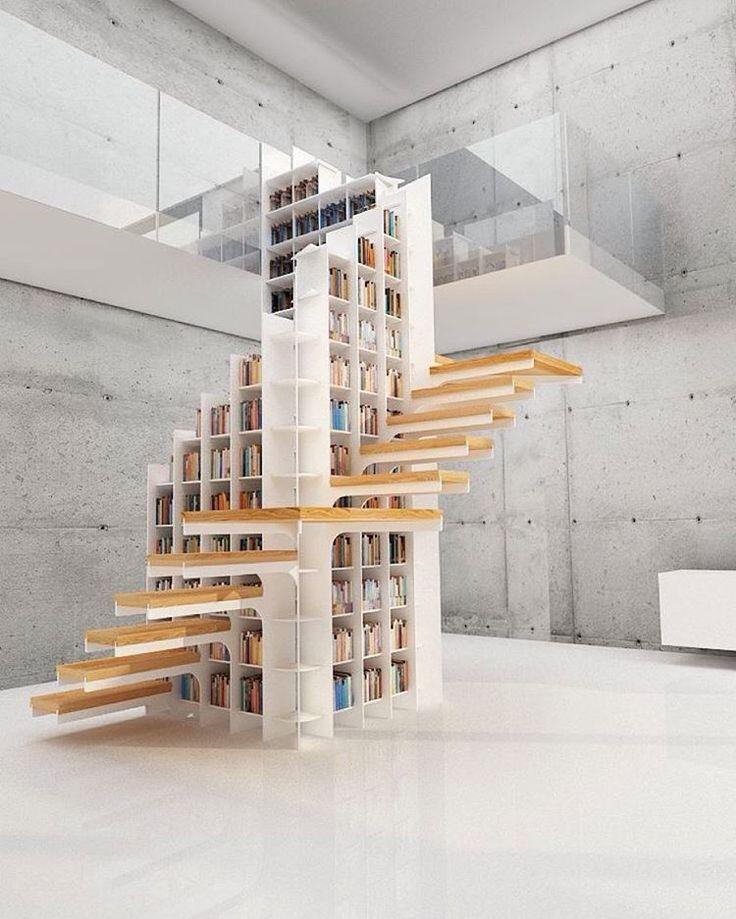 7 броские идеи настенные художественные книжные полки для вашего дома    Главная & Декор Сингапур