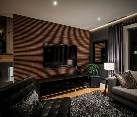 Image 14 Of 19 From Gallery Of Creative Textured Wall Panel To Beautify Living  Room. Amusing Wooden Textured Wall Panels Living Room With Gray Furry Rug  On ... Part 42