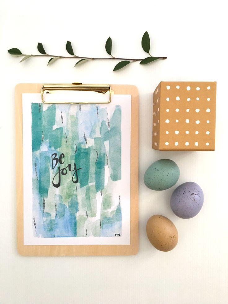 Be Joy Print by Kim Miatke Watercolour & ink art