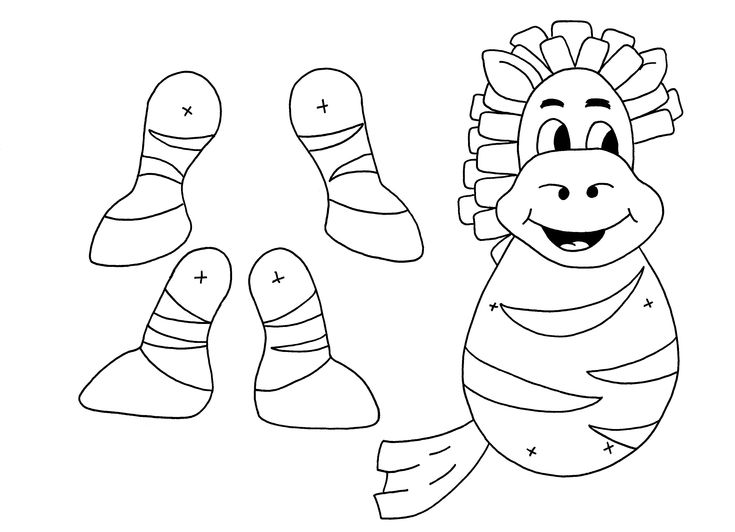 Zebra puppet from www.anansi-spider.com