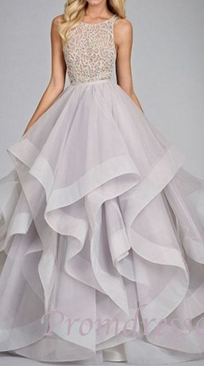 2015 elegant light anza backless layered long prom dress, ball gown,cute+dress+for+teens #promdress #wedding