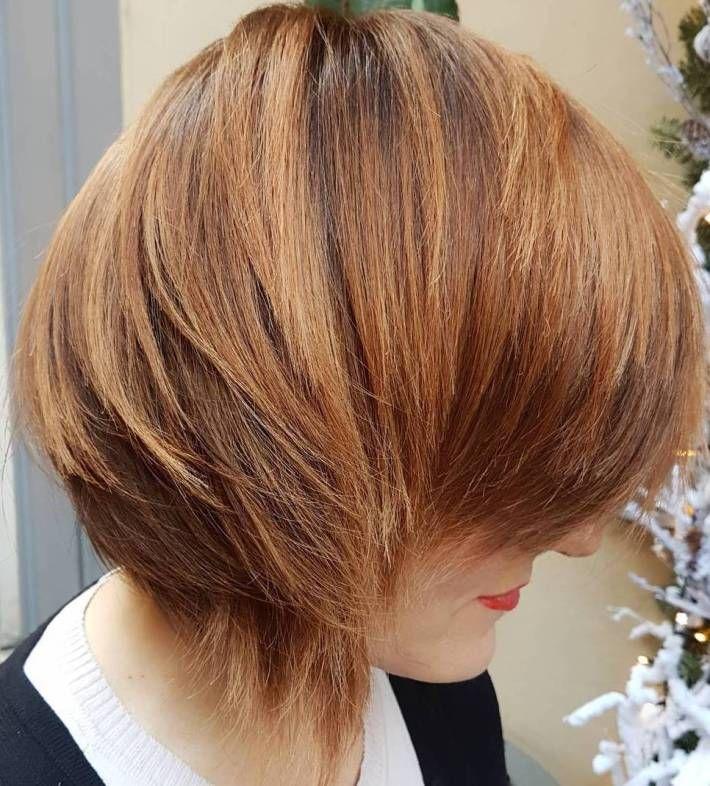 Long layered haircuts side part