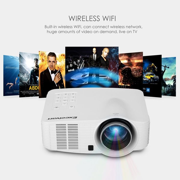 Excelvan portable led wireless wifi projector for Best portable wireless projector