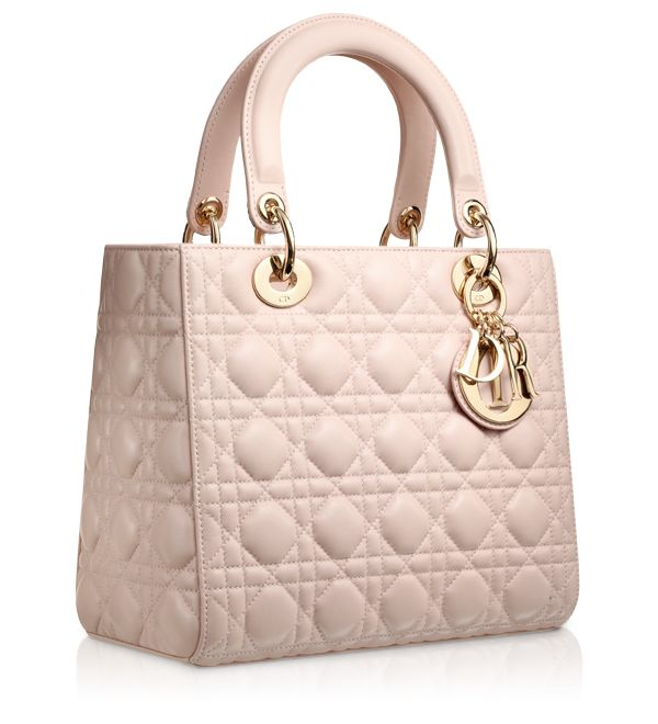 LADY DIOR - Rose Poudre leather Lady Dior bag