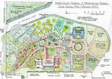 Permaculture Association | Design | Hooke Court History & Permaculture Garden