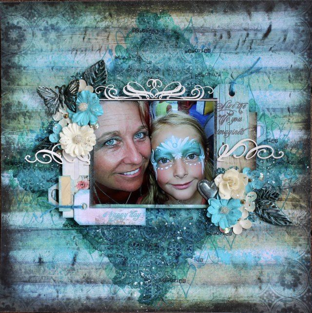 """Entry to August / September 2016 challenge """"Metalic colors or texture"""" by Heather Thompson"""