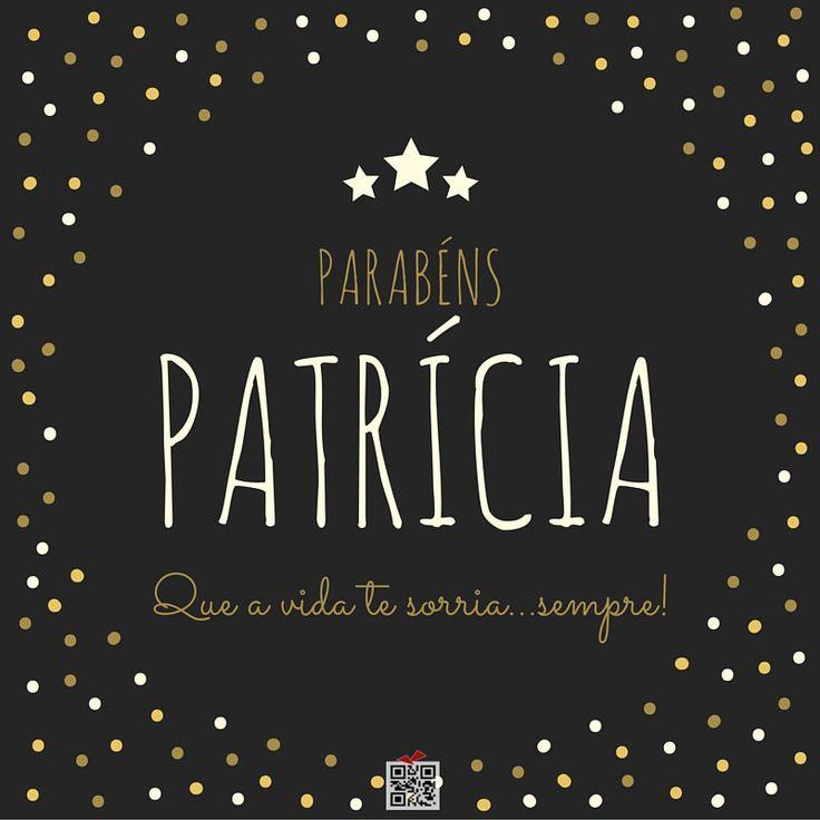 Parabéns Patrícia!