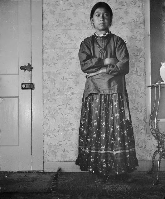 Winnebago Indian woman photographed in Wisconsin circa 1900