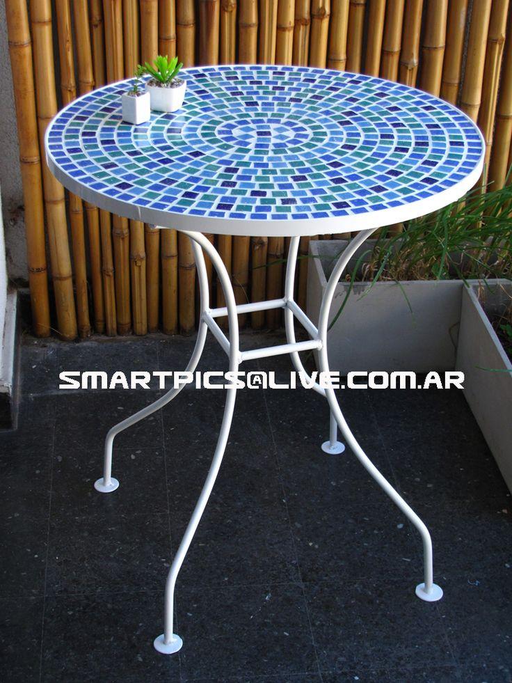 mesa Ocean 60 cm de diametro 70 cm de altura para dos ó cuatro sillas