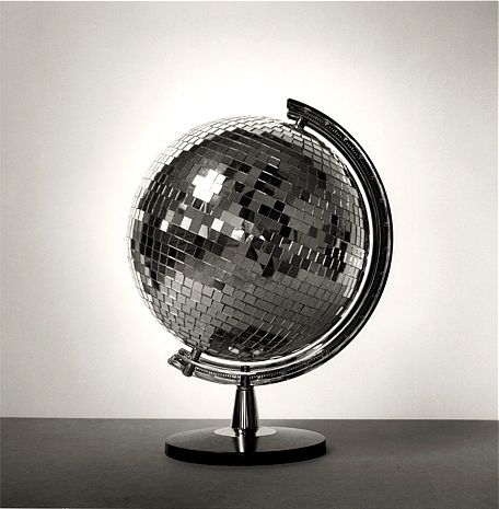 Disco ball globe photographed by Chema Madoz