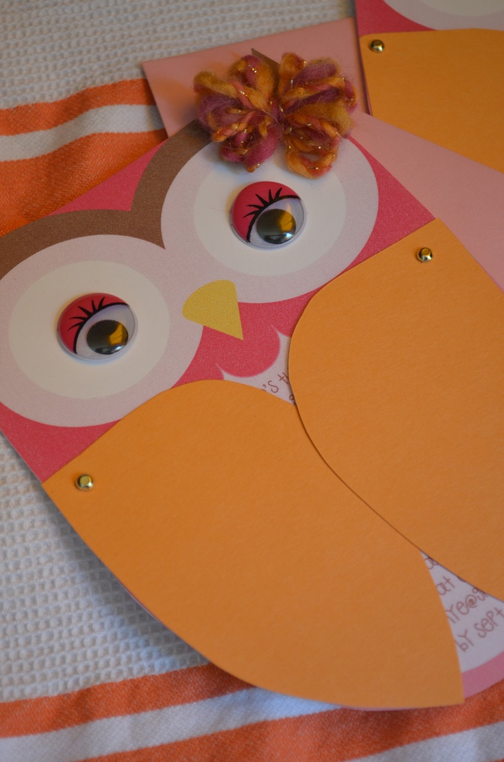 printed owl templates and adorned them with wings  googly