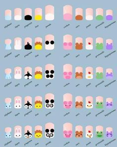 Zoo Nail Design                                                    These nails are so cute and easy !